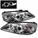2010 Pontiac G6 Clear Dual Halo Projector Headlights with LED