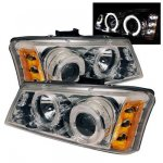 2005 Chevy Avalanche Clear Dual Halo Projector Headlights with LED