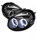 Dodge Neon 2003-2005 Black CCFL Halo Projector Headlights with LED