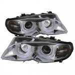 2004 BMW 3 Series E46 Sedan Clear U-Bar Halo Projector Headlights