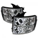 Chevy Silverado 2500HD 2007-2014 Clear CCFL Halo Projector Headlights with LED