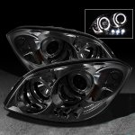Chevy Cobalt 2005-2010 Smoked Halo Projector Headlights with LED