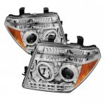 2006 Nissan Frontier Clear CCFL Halo Projector Headlights with LED
