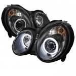 Mercedes Benz CLK 1998-2002 Black CCFL Halo Projector Headlights