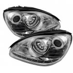 2006 Mercedes Benz S Class Clear Projector Headlights with LED Daytime Running Lights