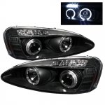 2004 Pontiac Grand Prix Dual Halo Black Projector Headlights with LED
