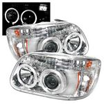 1995 Ford Explorer Clear Dual Halo Projector Headlights