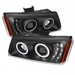2003 Chevy Silverado Black Projector Headlights Halo LED