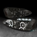 2004 Pontiac Grand Prix Smoked Dual Halo Projector Headlights with LED