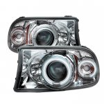 2002 Dodge Durango Clear CCFL Halo Projector Headlights