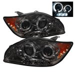 Scion tC 2005-2007 Smoked Dual Halo Projector Headlights with LED