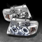 2004 Ford F150 Clear Halo Projector Headlights with LED