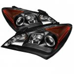 Hyundai Genesis 2010-2012 Black Halo Projector Headlights with LED