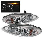 Dodge Intrepid 1998-2004 Clear Dual Halo Projector Headlights with Integrated LED