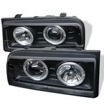VW Corrado 1990-1995 Black Dual Halo Projector Headlights