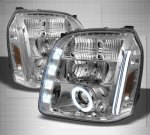 GMC Yukon XL 2007-2014 Clear Halo Projector Headlights with LED