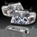 2007 Ford F150 Clear Halo Projector Headlights and LED Brake Light