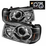 2007 Ford Ranger Clear Dual Halo Projector Headlights with LED