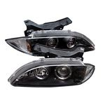 1997 Chevy Cavalier Black Halo Projector Headlights with LED