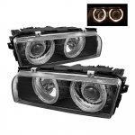 1995 BMW 7 Series Black Dual Halo Projector Headlights