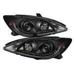 Toyota Camry 2002-2006 Black Projector Headlights with LED