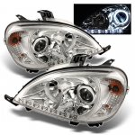 Mercedes Benz M Class 1998-2003 Clear Halo Projector Headlights with LED
