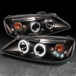 2010 Pontiac G6 Black CCFL Halo Projector Headlights with LED