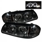2003 Chevy Impala Smoked Halo Projector Headlights