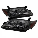 Toyota Camry 2007-2009 Smoked Projector Headlights with LED