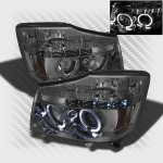 2006 Nissan Armada Smoked Halo Projector Headlights with LED