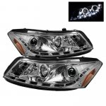 2011 Honda Accord Sedan Clear Halo Projector Headlights with LED DRL