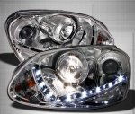 VW Rabbit 2006-2009 Clear HID Projector Headlights LED DRL