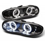 1999 Chevy Camaro Black CCFL Halo Projector Headlights with LED