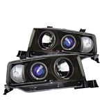 2004 Scion xB Black Dual Halo Projector Headlights