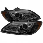 Mazda 3 Sedan 2004-2008 Smoked Halo Projector Headlights