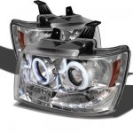 2009 Chevy Avalanche Clear CCFL Halo Projector Headlights with LED