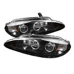 Dodge Intrepid 1998-2004 Black Dual Halo Projector Headlights with Integrated LED