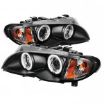 2002 BMW E46 Sedan 3 Series Black CCFL Halo Projector Headlights