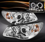 2008 Hyundai Elantra Clear Halo Projector Headlights with LED DRL