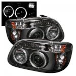 Mercury Mountaineer 1997 Black Dual Halo Projector Headlights