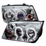 2004 VW Jetta Clear Dual CCFL Halo Projector Headlights
