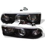 Chevy S10 1998-2002 Black Halo Projector Headlights