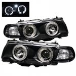 2001 BMW 7 Series Black Dual Halo Projector Headlights