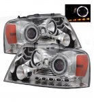 2004 Ford F150 Clear Projector Headlights with Halo and LED