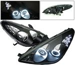 Lexus ES330 2004-2006 Black Projector Headlights CCFL Halo LED