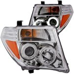 2006 Nissan Frontier Clear Projector Headlights with CCFL Halo