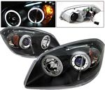Chevy Cobalt 2005-2010 Projector Headlights Black CCFL Halo LED