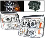 2005 Cadillac Escalade Clear Projector Headlights with CCFL Halo and LED