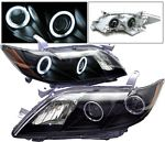 Toyota Camry 2007-2009 Black Projector Headlights CCFL Halo