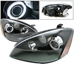Nissan Altima 2002-2004 Black Projector Headlights CCFL Halo